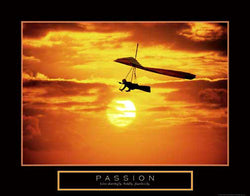 "Hang Gliding ""Passion"" Motivational Poster - Front Line"