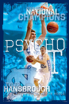 "Tyler Hansbrough ""Psycho T"" North Carolina Tar Heels Poster - ProGraphs"