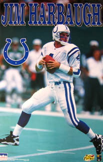 "Jim Harbaugh ""Action"" Indianapolis Colts Poster - Starline 1996"