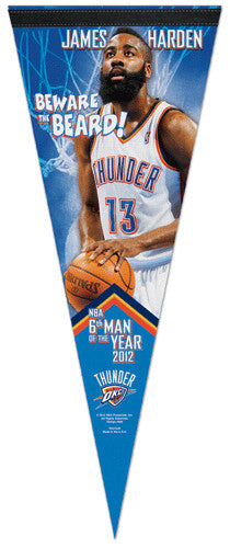 "James Harden ""Beware the Beard"" Premium Felt Collector's Pennant - Wincraft 2012"