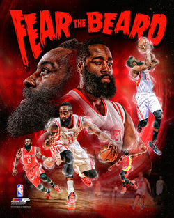 "James Harden ""Fear the Beard"" Houston Rockets Premium 20x24 Poster Print - Photofile Inc."