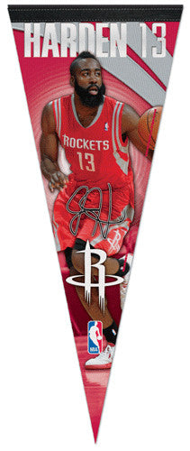"James Harden ""Signature"" Rockets 2012 NBA Premium Felt Collector's Pennant - Wincraft"