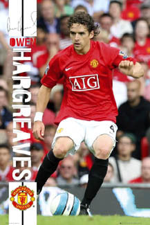 "Owen Hargreaves ""Signature Action"" - GB Posters 2007"