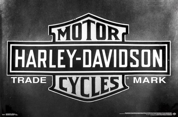Harley-Davidson Motorcycles Official Trademark Logo Poster - Trends International 2017