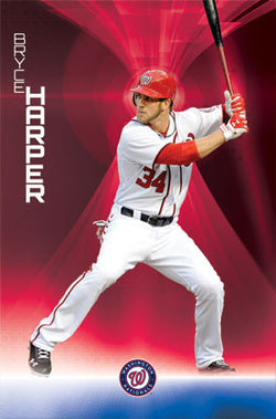 "Bryce Harper ""Launch"" Washington Nationals Poster - Costacos 2012"