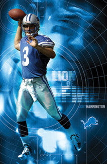 "Joey Harrington ""Lion of Fire"" Detroit Lions Poster - Costacos 2003"