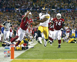 "James Harrison ""100 Yards!"" (Super Bowl XLIII) Steelers Premium Poster Print - Photofile Inc."