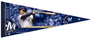 "Corey Hart ""Signature"" Milwaukee Brewers Premium Felt Collector's Pennant (LE /2012)"