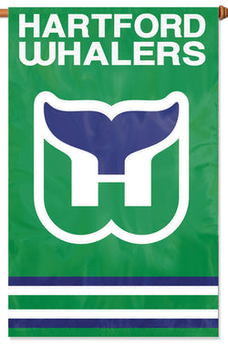 Hartford Whalers Official Retro NHL Hockey Premium Applique Team BANNER Flag - Party Animal