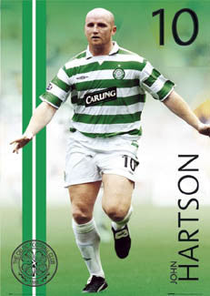 "John Hartson ""Action"" Glasgow Celtic FC Poster - GB 2004"