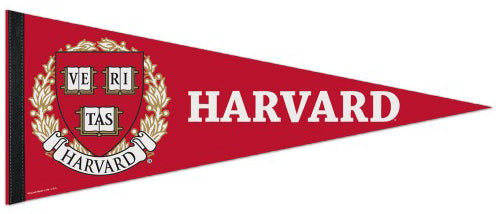 Harvard University Official NCAA Team Logo Premium Felt Pennant - Wincraft Inc.