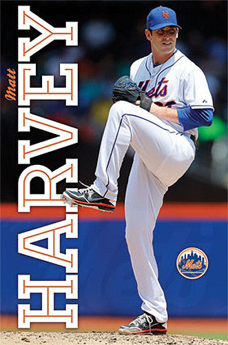 "Matt Harvey ""Superstar"" New York Mets Official MLB Action Poster - Costacos 2013"
