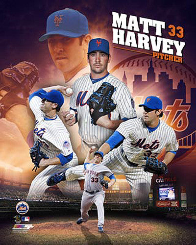 "Matt Harvey ""Ace"" New York Mets MLB Premium Poster Print - Photofile 16x20"