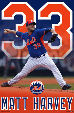 "Matt Harvey ""Flamethrower"" New York Mets Poster - Trends International"