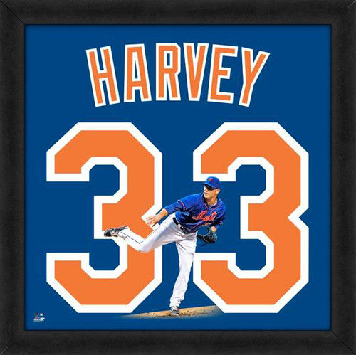"Matt Harvey ""Number 33"" New York Mets FRAMED 20x20 UNIFRAME PRINT - Photofile"