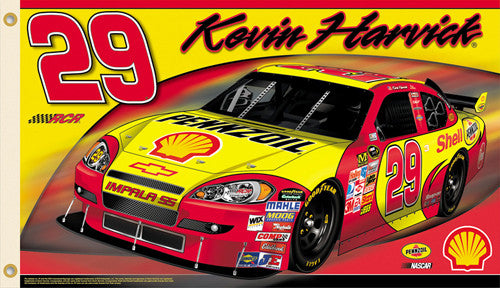 "Kevin Harvick ""Harvick Nation"" 3'x5' Flag (2009) - BSI Products"