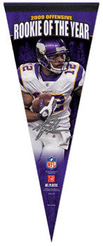 Percy Harvin 2009 NFL Offensive ROY Premium Pennant (LE /2010)