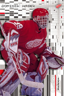 "Dominik Hasek ""Intensity"" Detroit Red Wings NHL Goalie Action Poster - Costacos 2002"