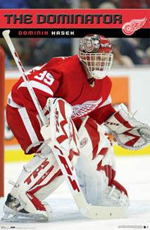 "Dominik Hasek ""The Dominator"" Detroit Red Wings Poster - Costacos Sports 2007"