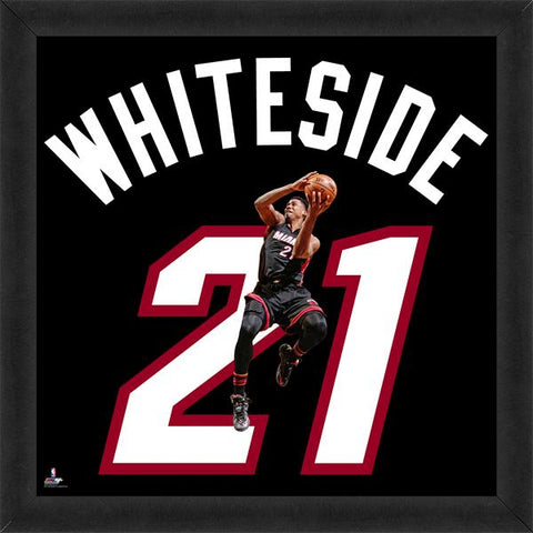 "Hassan Whiteside ""Number 21"" Miami Heat FRAMED 20x20 UNIFRAME PRINT - Photofile Inc."