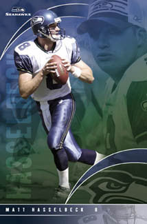 "Matt Hasselbeck ""Superstar"" Seattle Seahawks Poster - Costacos 2004"