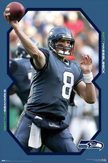 "Matt Hasselbeck ""Action 8"" Seattle Seahawks Poster - Costacos 2008"