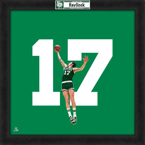 "John Havlicek ""Number 17"" Boston Celtics NBA FRAMED 20x20 UNIFRAME PRINT - Photofile"
