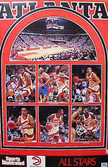 "Atlanta Hawks ""All Stars 1989"" 6-Player Classic Poster - Marketcom/Sports Illustrated"