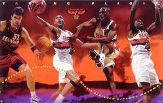 "Atlanta Hawks ""Taking Flight"" (Four Stars) Poster - Costacos Brothers 1997"
