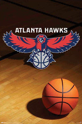 Atlanta Hawks Official Team Logo Poster - Costacos Sports