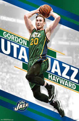"Gordon Hayward ""PowerSlam"" Utah Jazz NBA Basketball Wall Poster - Trends 2016"