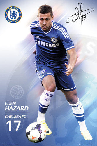 "Eden Hazard ""Signature"" Chelsea FC Official Action Poster - GB Eye (UK)"