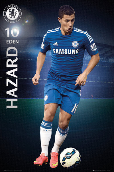 "Eden Hazard ""Superstar"" Chelsea FC Official EPL Action Poster - GB Eye (UK)"