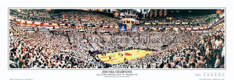 Miami Heat 2006 NBA Champions Panoramic Poster Print - Everlasting Images