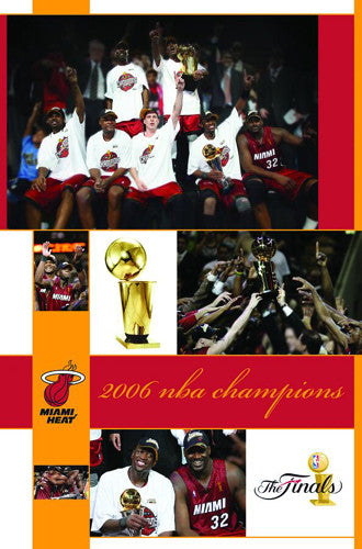 "Miami Heat 2006 NBA Champions ""Celebration"" Commemorative Poster - Costacos"