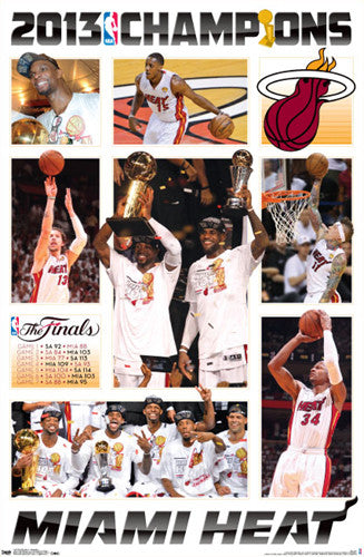"Miami Heat ""Championship Game Night"" 2013 NBA Champions Commemorative Poster"