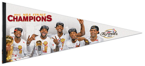 "Miami Heat 2013 NBA Champions ""Celebration"" Premium XL Felt Pennant - Wincraft"