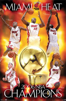 Miami Heat 2006 NBA Champions Commemorative Poster - Costacos Sports