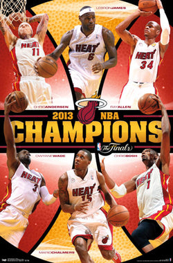 Miami Heat 2013 NBA Champions Commemorative Poster - Costacos