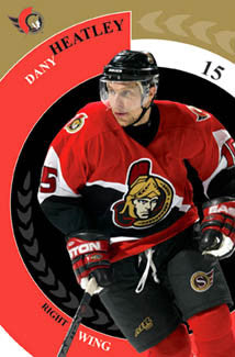 "Dany Heatley ""Senator"" Ottawa Senators NHL Action Poster - Costacos 2006"