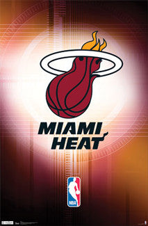 Miami Heat Official NBA Team Logo Poster - Costacos Sports