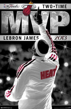 LeBron James 2013 Two-Time NBA Finals MVP Commemorative Poster