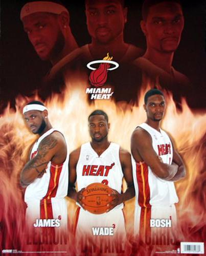 "Miami Heat ""Ultimate Trio"" (LeBron, Wade, Bosh) 16x20 Edition Poster - Costacos Sports"