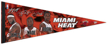 "Miami Heat ""Power Trio"" Signature Series Premium Felt Pennant - Wincraft"