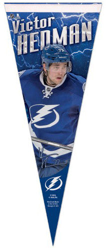 "Victor Hedman ""Signature Series"" Tampa Bay Lightning Premium Felt Collector's Pennant - Wincraft"