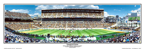Pittsburgh Steelers Heinz Field Inaugural Game Panoramic Poster Print - Everlasting Images
