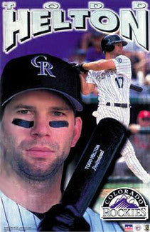 "Todd Helton ""Professional"" Colorado Rockies Poster - Starline 2001"