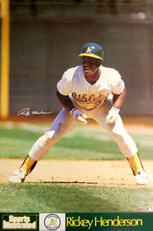 "Rickey Henderson ""Leadoff"" Oakland A's Sports Illustrated Signature Series Poster - Marketcom 1990"