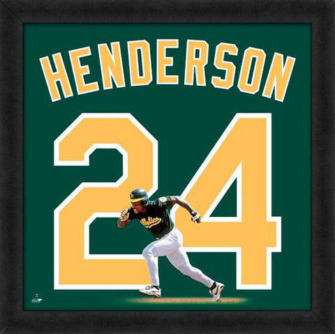 "Rickey Henderson ""Number 24"" Oakland A's MLB FRAMED 20x20 UNIFRAME PRINT - Photofile"