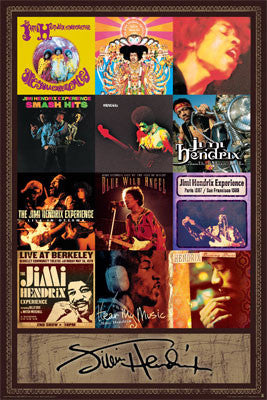 Jimi Hendrix Discography Poster - Aquarius Images Inc.